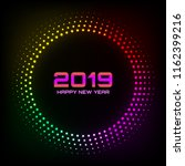 new year 2019 card background.... | Shutterstock .eps vector #1162399216