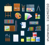 set of objects for fine art ... | Shutterstock .eps vector #1162402510