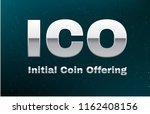 ico initial coin offering on... | Shutterstock .eps vector #1162408156