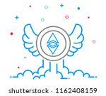 ethereum cryptocurrency coin... | Shutterstock .eps vector #1162408159