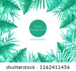 watercolor background with... | Shutterstock . vector #1162411456