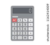 business calculator flat icon ... | Shutterstock .eps vector #1162414009