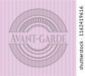 avant garde vintage pink emblem | Shutterstock .eps vector #1162419616