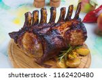roasted rack of pork  pork loin ... | Shutterstock . vector #1162420480
