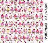 Cute Pig Seamless Pattern....
