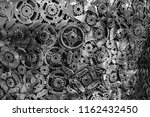 recycled metal gears  cogs and... | Shutterstock . vector #1162432450