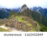 machu picchu on a rainy day ... | Shutterstock . vector #1162432849