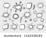 speech bubbles with halftone... | Shutterstock .eps vector #1162438183