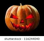 pumpkin halloween jack o... | Shutterstock . vector #116244040