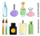 woman perfumes. glass bottles... | Shutterstock .eps vector #1162441600