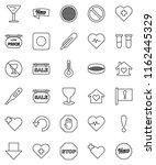 thin line vector icon set  ...   Shutterstock .eps vector #1162445329