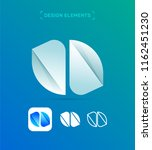 origami paper h letter logo...