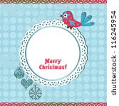 template christmas greeting... | Shutterstock .eps vector #116245954