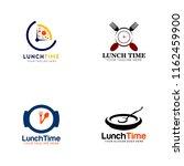lunch time logo bundle   Shutterstock .eps vector #1162459900