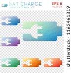 bat charge geometric polygonal... | Shutterstock .eps vector #1162461319