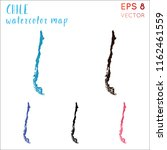 chile watercolor country map.... | Shutterstock .eps vector #1162461559
