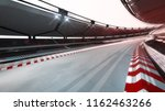 curved race track with speed... | Shutterstock . vector #1162463266