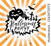halloween party card  banner ... | Shutterstock .eps vector #1162473373