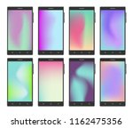 vector mobile phone set with... | Shutterstock .eps vector #1162475356