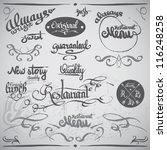 set of vintage retro grunge... | Shutterstock .eps vector #116248258