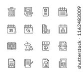 collection of 16 paper outline... | Shutterstock .eps vector #1162483009