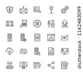 collection of 25 computer...   Shutterstock .eps vector #1162483099
