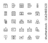 collection of 25 mobile outline ...