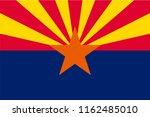 vector flag of arizona state ... | Shutterstock .eps vector #1162485010