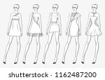 vector fashion set of clothes... | Shutterstock .eps vector #1162487200
