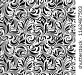 vector seamless black and white ... | Shutterstock .eps vector #1162487503