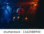 concept of halloween. glowing... | Shutterstock . vector #1162488940