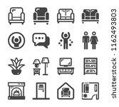 living room icon set | Shutterstock .eps vector #1162493803