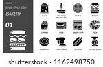 solid style icon pack for... | Shutterstock .eps vector #1162498750