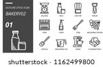 outline style icon pack for... | Shutterstock .eps vector #1162499800