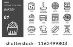 outline style icon pack for... | Shutterstock .eps vector #1162499803