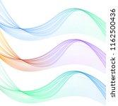 vector set of gradient waves on ... | Shutterstock .eps vector #1162500436