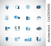business and management icon set | Shutterstock .eps vector #1162503400