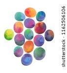 watercolor colorful eggs... | Shutterstock . vector #1162506106