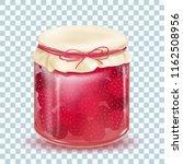 raspberry jam. blackberry jam.... | Shutterstock .eps vector #1162508956