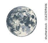 Hand Drawn Moon. Vector...