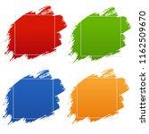 colorful blobs banner set   Shutterstock . vector #1162509670