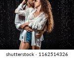 portrait of seductive couple... | Shutterstock . vector #1162514326