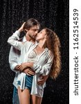 portrait of seductive couple... | Shutterstock . vector #1162514539