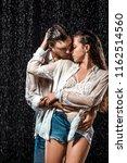 portrait of seductive couple... | Shutterstock . vector #1162514560