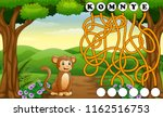 game monkey maze find way to... | Shutterstock .eps vector #1162516753