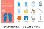 flat style icon pack for... | Shutterstock .eps vector #1162517443