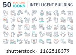set of vector line icons of... | Shutterstock .eps vector #1162518379