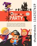 flyer or poster template with... | Shutterstock .eps vector #1162527619