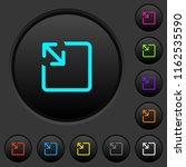 resize object dark push buttons ... | Shutterstock .eps vector #1162535590