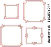 frame border decorative design... | Shutterstock .eps vector #1162536049